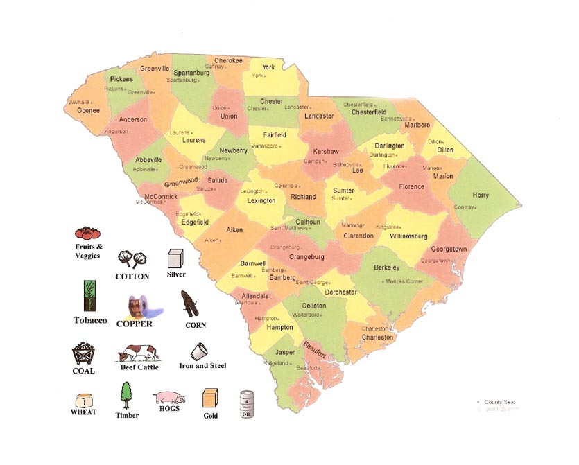 This is an image of SC Land Use